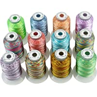 New brothread 12 Multi Colores 500M(550Y) Poliéster Bordado