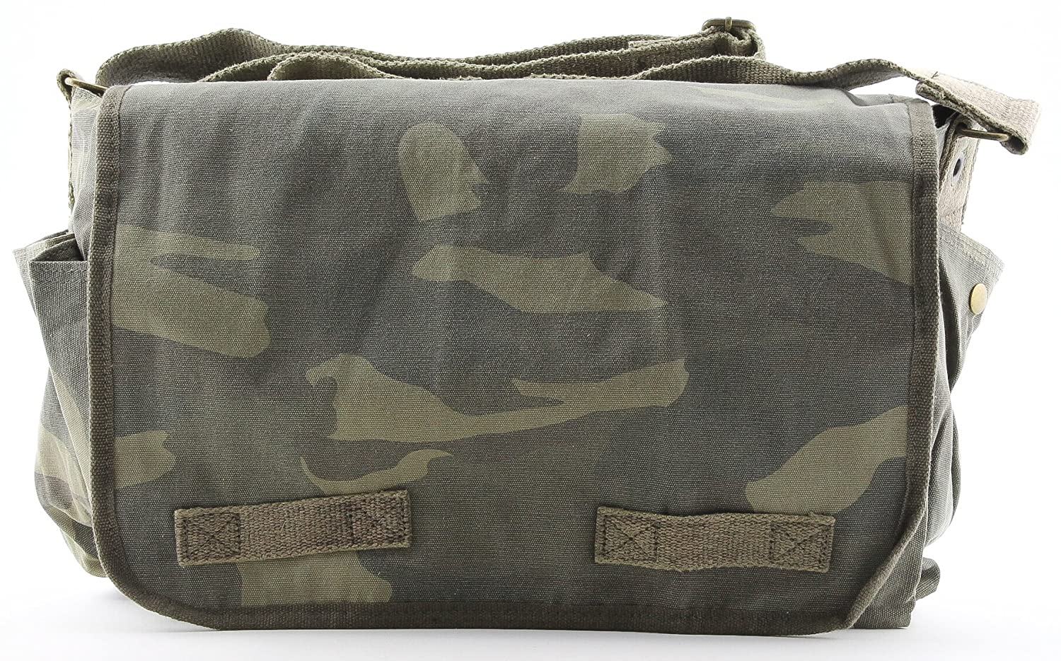 Amazon.com  Woodland Camouflage Mini Messenger Bag Heavyweight Cotton Canvas  Shoulder Bag with official Army Universe Pin  Camouflage Messenger Bag  ... 88d1feaa4a8