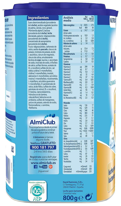 Almirón Advance con Pronutra 1 - Leche de inicio en polvo a partir del primer día- 800g: Amazon.es: Amazon Pantry