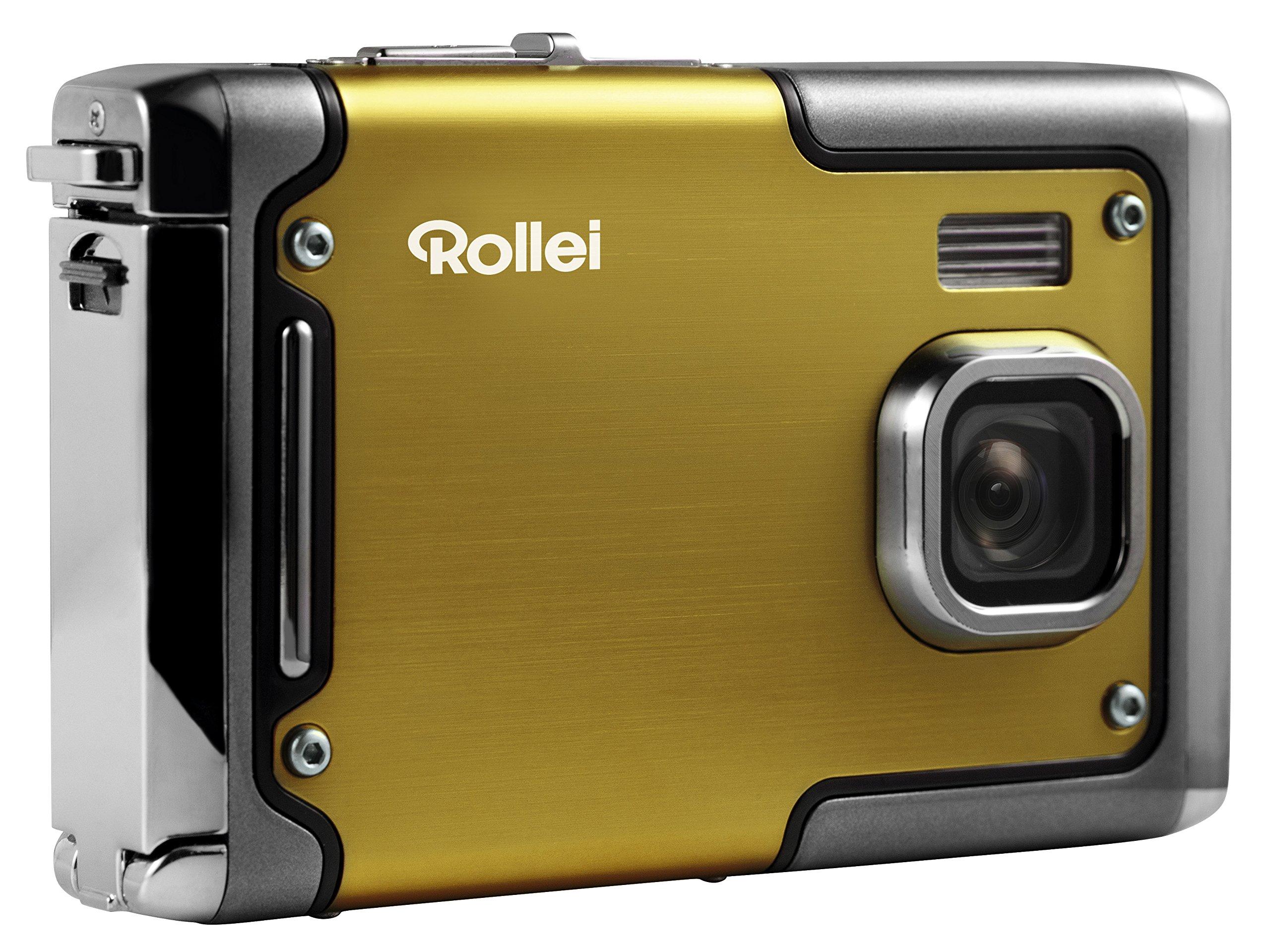 Rollei Sportsline 85 - Digital Camera - 8 Megapixels, 1080p Full HD Video Resolution, Waterproof up to 3 meters - Yellow