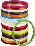 AmazonBasics PLA 3D Printer Filament, 1.75mm, 22 Assorted Colors, 1.25 kg