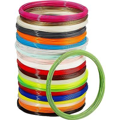 AmazonBasics - Filamento para impresora 3D, ácido poliláctico (PLA), 1,75 mm, cinta de 1,25 kg, 22 colores diferentes