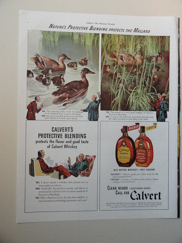 Amazon com: Calvert Whiskey, 1940 Color Illustration, Print