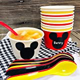 Mickey Mouse Inspired Ice Cream Party Set with 8