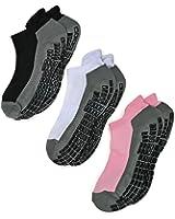 Deluxe Super Grips Anti Slip Non Skid Barre Yoga Pilates Maternity Pregnancy Hospital Socks for Adults Men Women