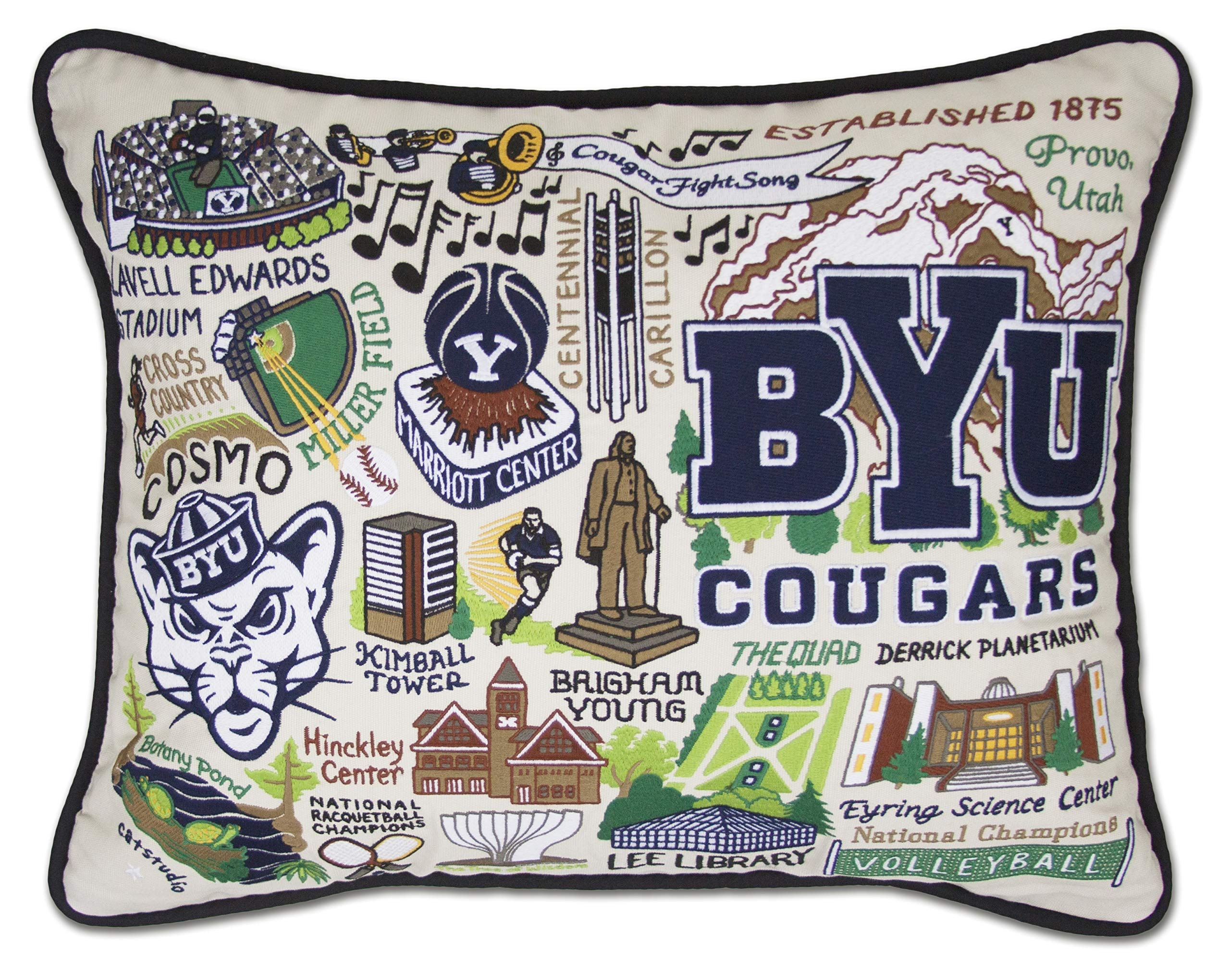 Catstudio- Brigham Young University Embroidered Throw Pillow - 16'' x 20''