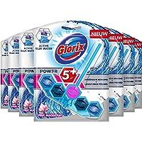 Glorix Power-5 Toiletblok Blauw Water, Pink Magnolia - 7 stuks - Multipack