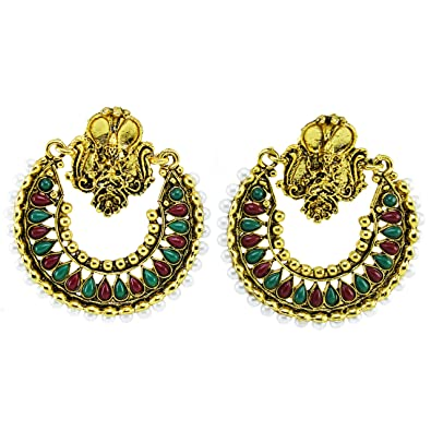 2548240cd QRAFTINK Oxidised Gold Jewelry/South Indian/Rajasthani Artificial/Imitation/  Antique/Traditional