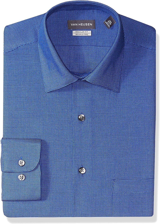 Van Heusen Mens Dress Shirt Regular Fit Stripe