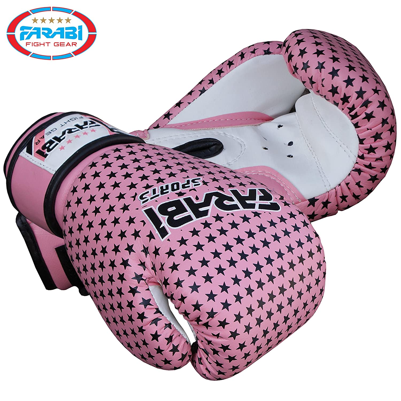 Farabi color rosa 113,4 g Guantes de boxeo para ni/ños