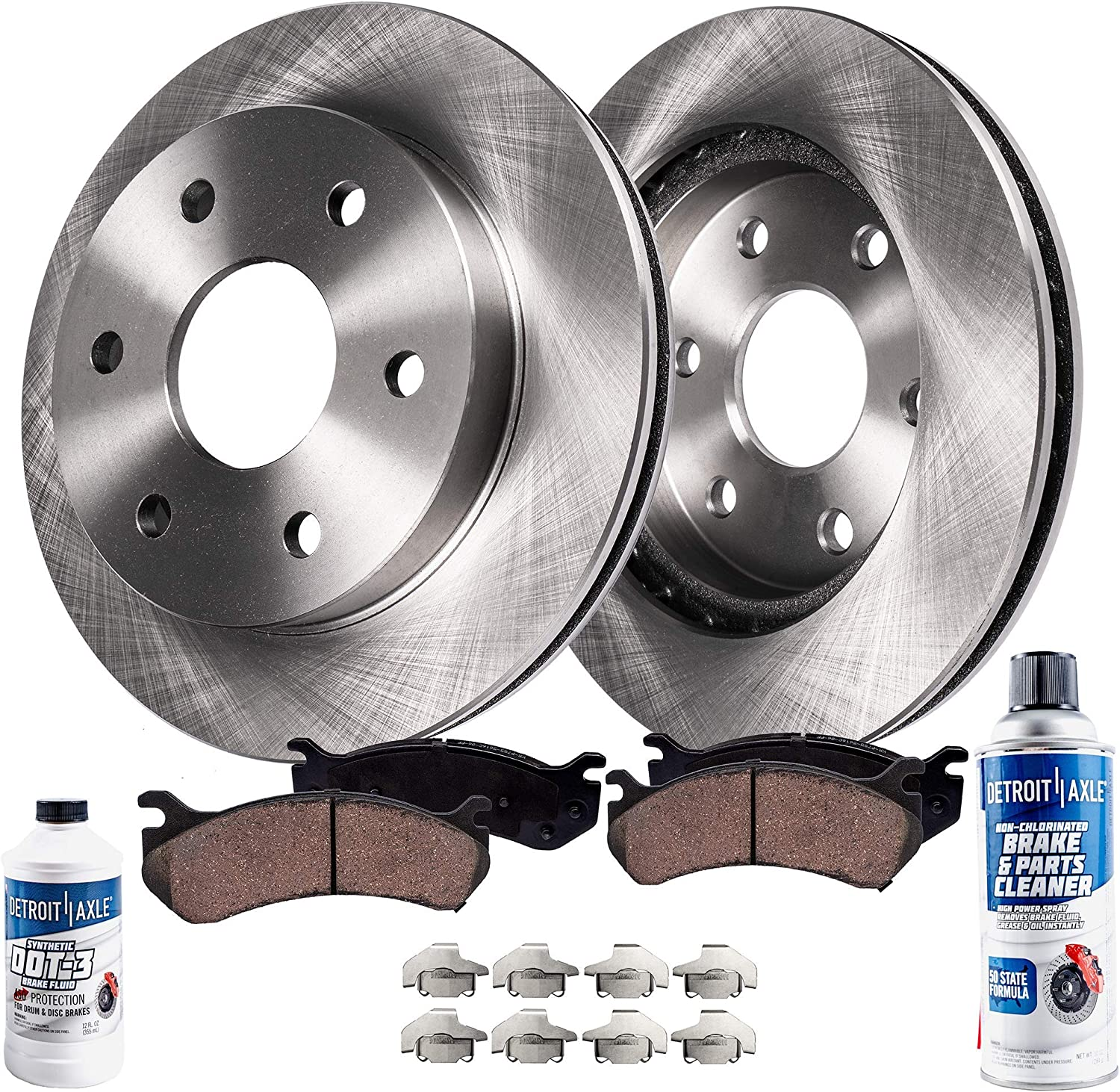 2017 For Ford Expedition Rear Disc Brake Rotors and Ceramic Brake Pads