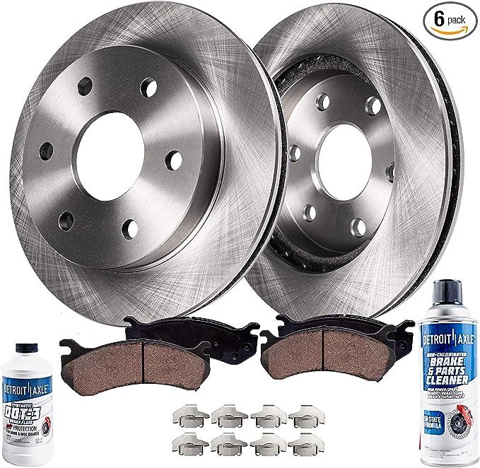 Front Wheel Bearings Brake Rotors for Rainier Trailblazer Envoy Ascender V8