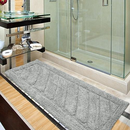 Ottomanson Ruby Collection 100 Pure Cotton Luxury Bath Rug 20 X 59