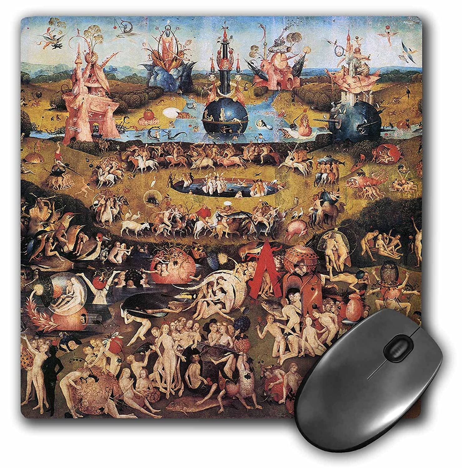 3dRose LLC 8 x 8 x 0.25 Inches Mouse Pad, Garden of Earthly Delights by Hieronymus Bosch (mp_130134_1)