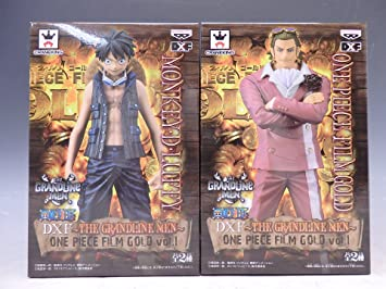 Amazon One Piece DXF The Grandline Men Film Gold Vol1 Luffy Tesoro Complete Set Banpresto Japan Toys Games