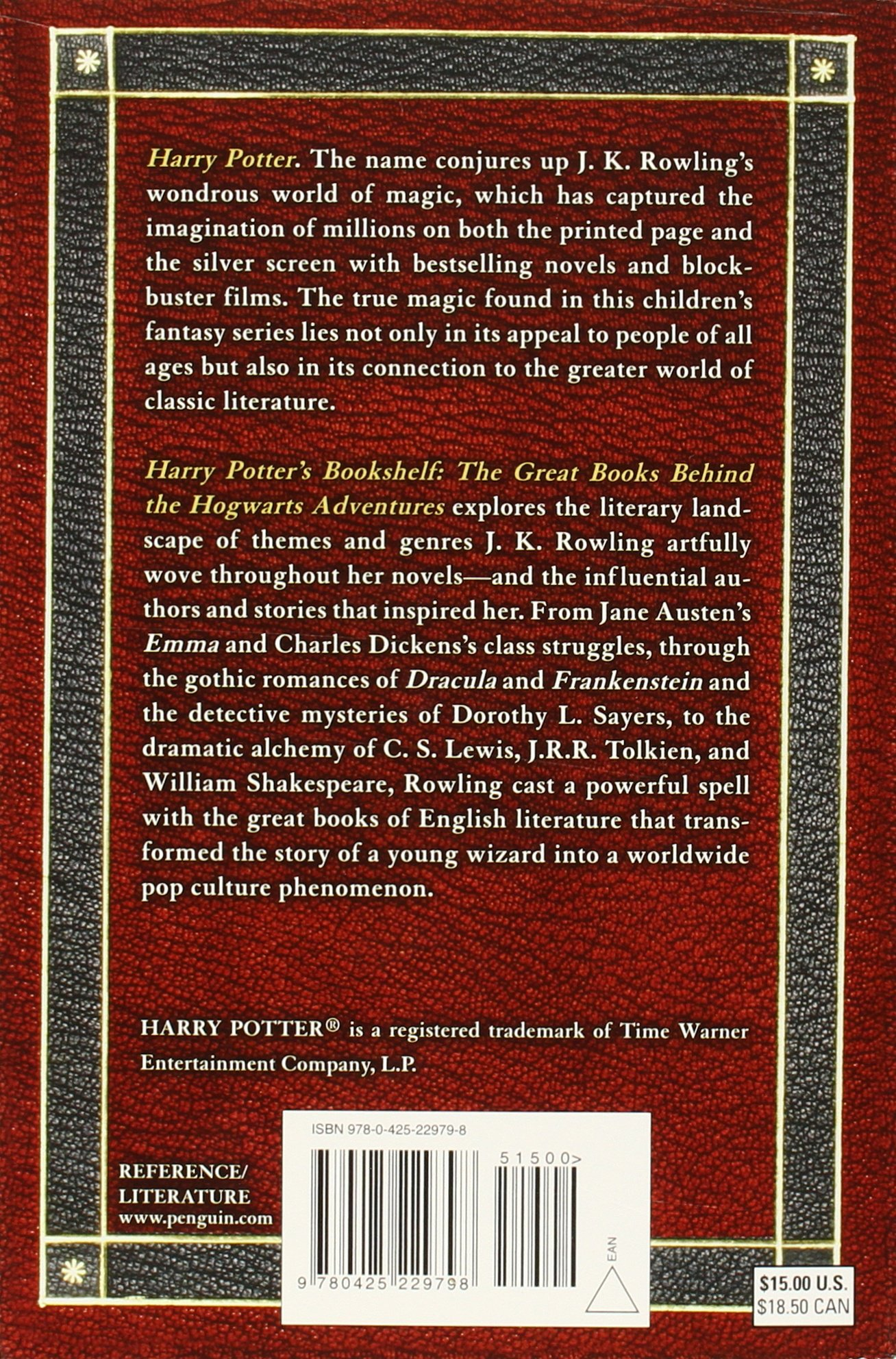 Amazon.com: Harry Potter's Bookshelf: The Great Books behind the Hogwarts  Adventures (9780425229798): John Granger: Books