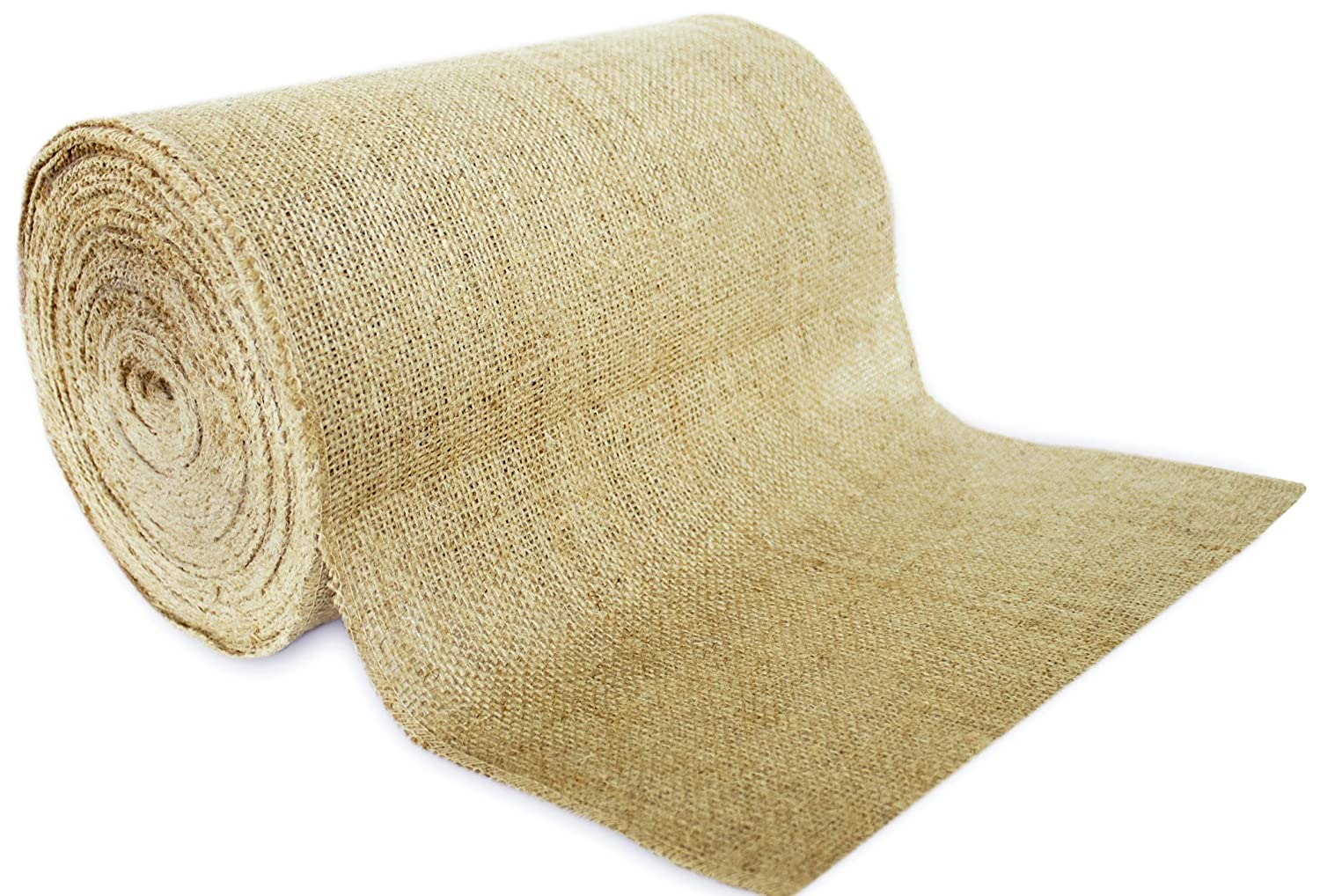 14' No-Fray Burlap Roll Table Runner, 14 inches by 50 Yards, Placemat, Craft Fabric