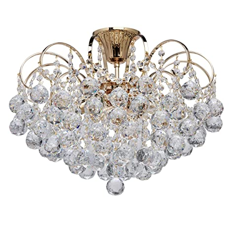 Silberf. Jugendstil Kristall Wandlampe Echt Kristall und Metall Rahmen Gold o