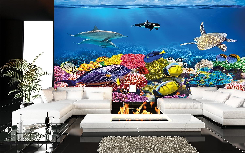 Fotomurales acquario murales decorazione variopinta mondo ...