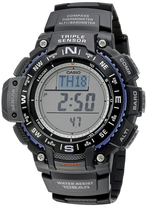 c33e841ca7b Casio Men s SGW-1000-1ACR Triple Sensor Digital Display Quartz Black Watch