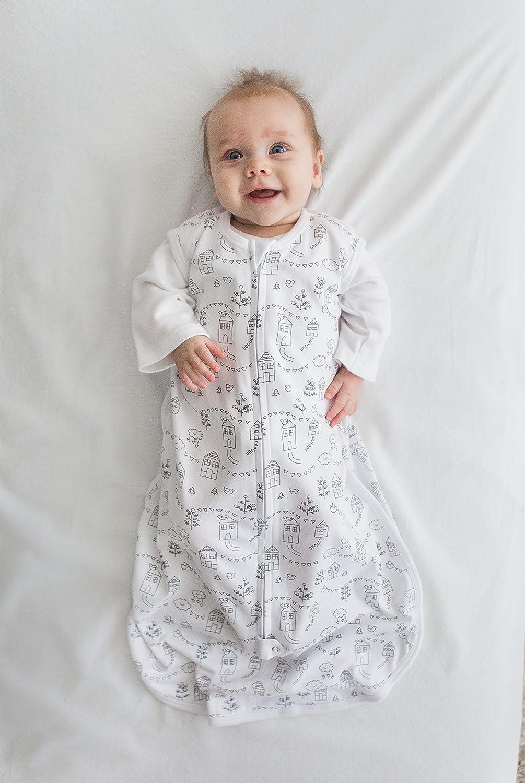 Medium Amazing Baby Cotton Sleeping Sack with 2-Way Zipper Little Village Black