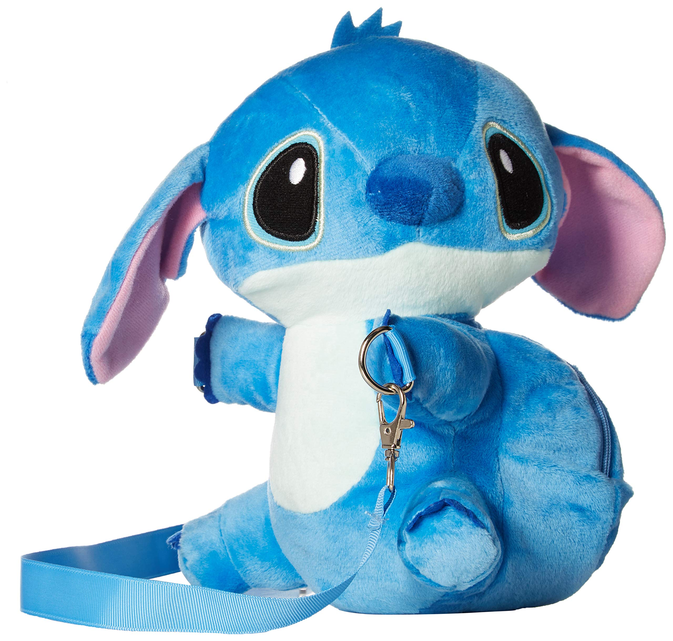 Dis Stitch Soft Plush Crossbody/Shoulder Mini Bag with Small Pocket for Kids. H 9''.