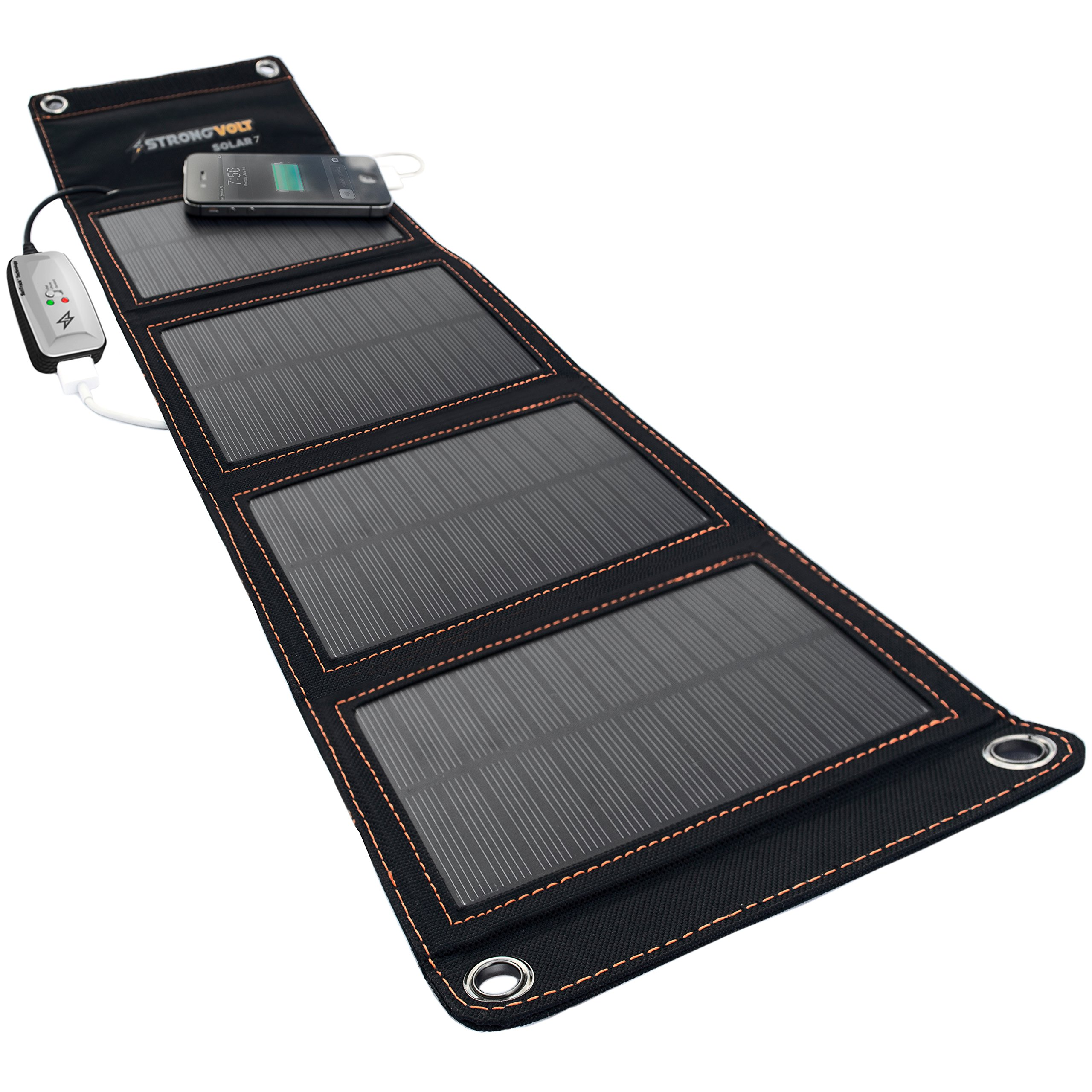 StrongVolt Portable Solar Charger with SunTrack Technology - 7 Watts