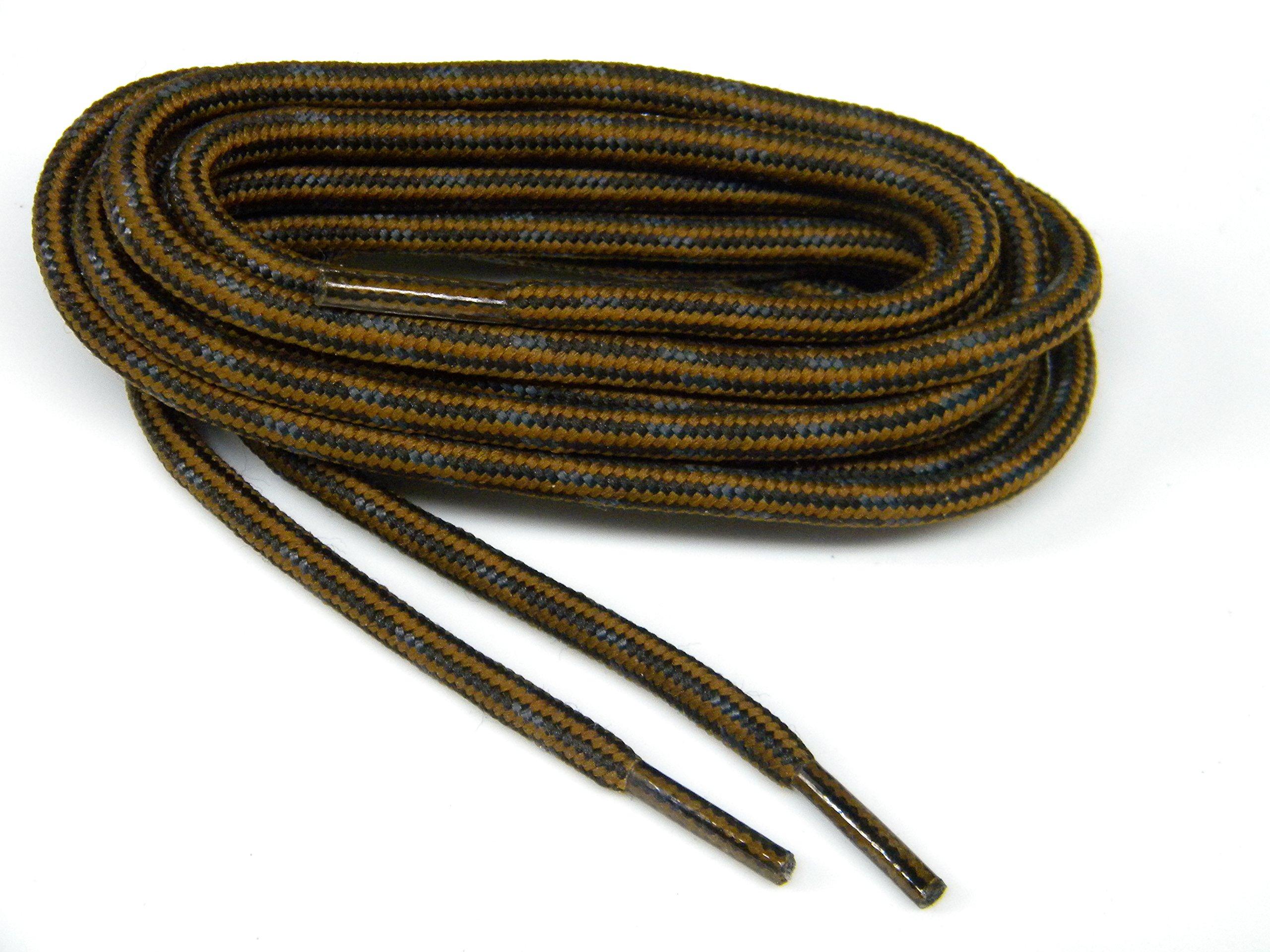 GREATLACES 63 inch Rust w/Black Kevlar (R) proTOUGH(TM) Boot Shoelaces 2 Pair Pack
