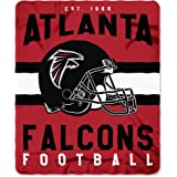 """The Northwest Company Officially Licensed NFL Atlanta Falcons """"Singular"""" Printed Fleece Throw Blanket, 50"""" x 60"""", Multi Color"""