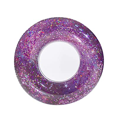 "Poolcandy Galaxy Pool Tube 36"" - M51 Purple Glitter - Perfect for Swimming Pool Parties, The Beach or Lakes.: Toys & Games"