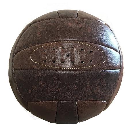 Balón de fútbol de piel sintética, estilo retro, de Vintage Teas ...