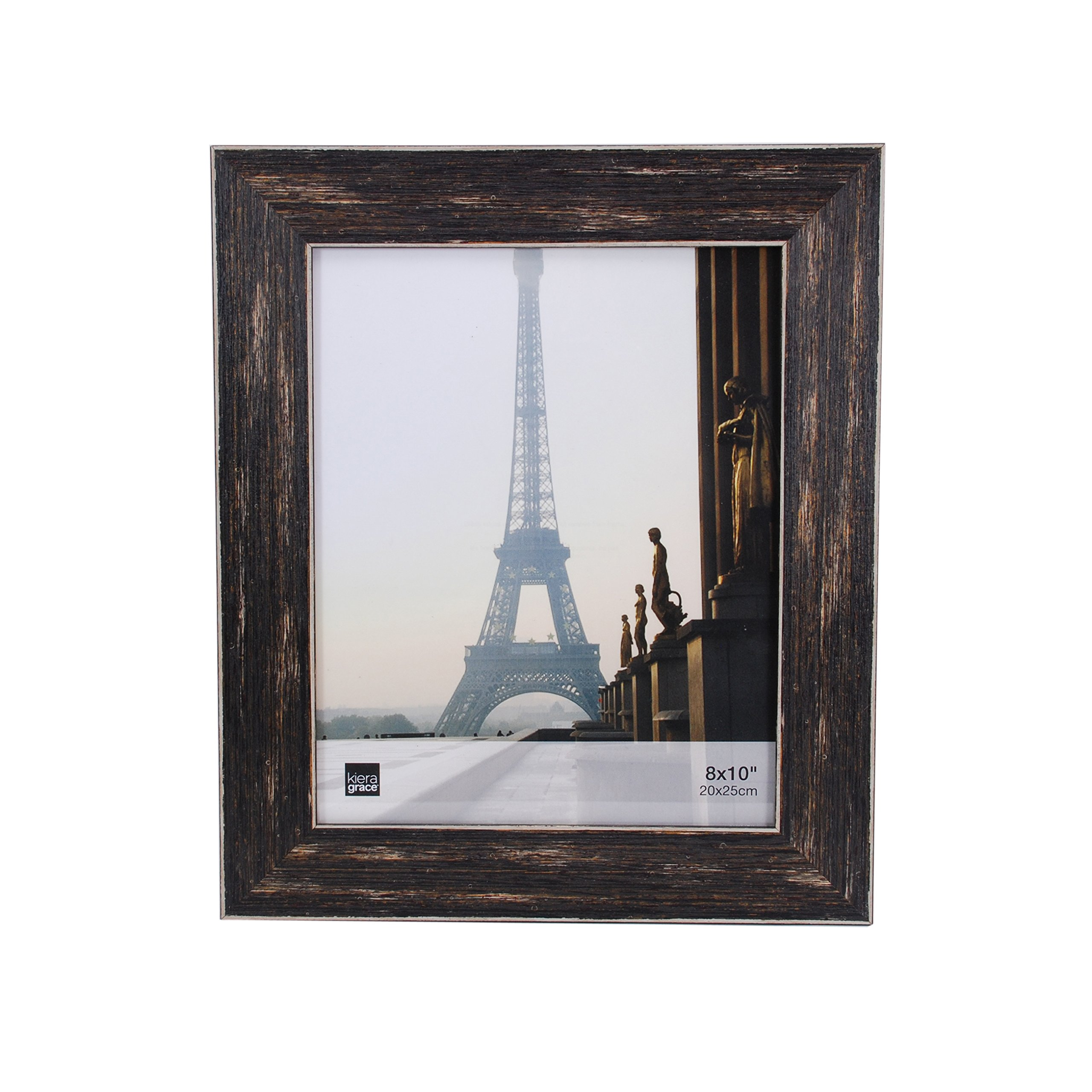 kieragrace Emery Picture Frame, 8 by 10-Inch, Plastic Resin, Weathered Barnwood Finish by kieragrace
