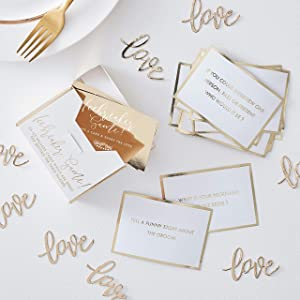Ginger Ray Gold Foil Ice Breaker Game Wedding Table Decoration - Gold Wedding