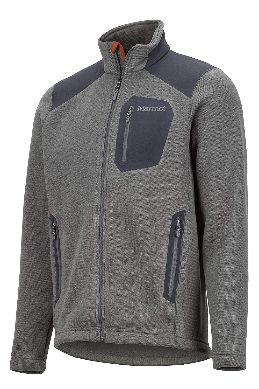 Marmot Wrangell Jacket Resistente al Vento Uomo Pile Traspirante Giacca da Esterno con Cerniera Completa