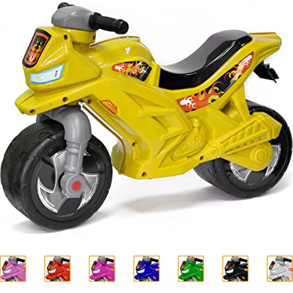 e3b50b000b2 Ride-on Push Bike for Toddlers and Kids 2-5 Years Old Plastic Balance Bike  Outdoor & Indoor Stroller Toy Motorcycle 2 Wheel Walking Activity Trainer  ...