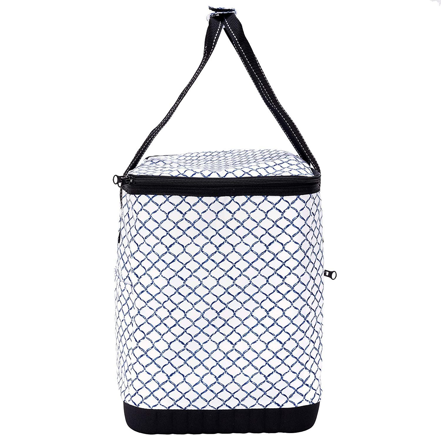 Fleetwood Black SCOUT The Stiff One Large Insulated Soft Cooler Zipper Closure Water Resistant Reinforced Hard Bottom and Handles PVC-Free Liner