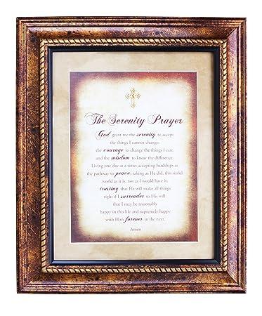 the serenity prayer framed wall art christian verses 11wx13h