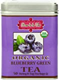 Brew La La Tea Organic Green Tea Bags, Blueberry, 100 Count