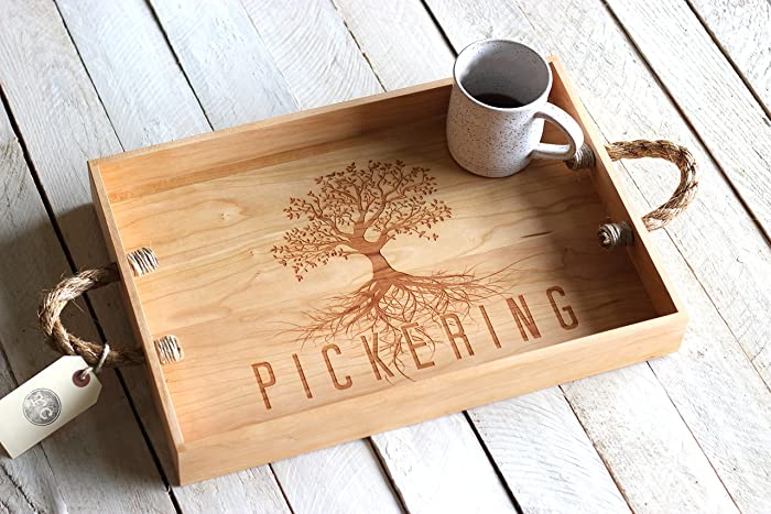 amazon com custom personalized tree design wood serving tray