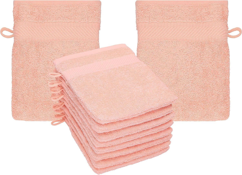 Betz Paquete de 10 Manoplas de baño Palermo 100% algodón tamaño 16x21 cm (Naranja): Amazon.es: Hogar