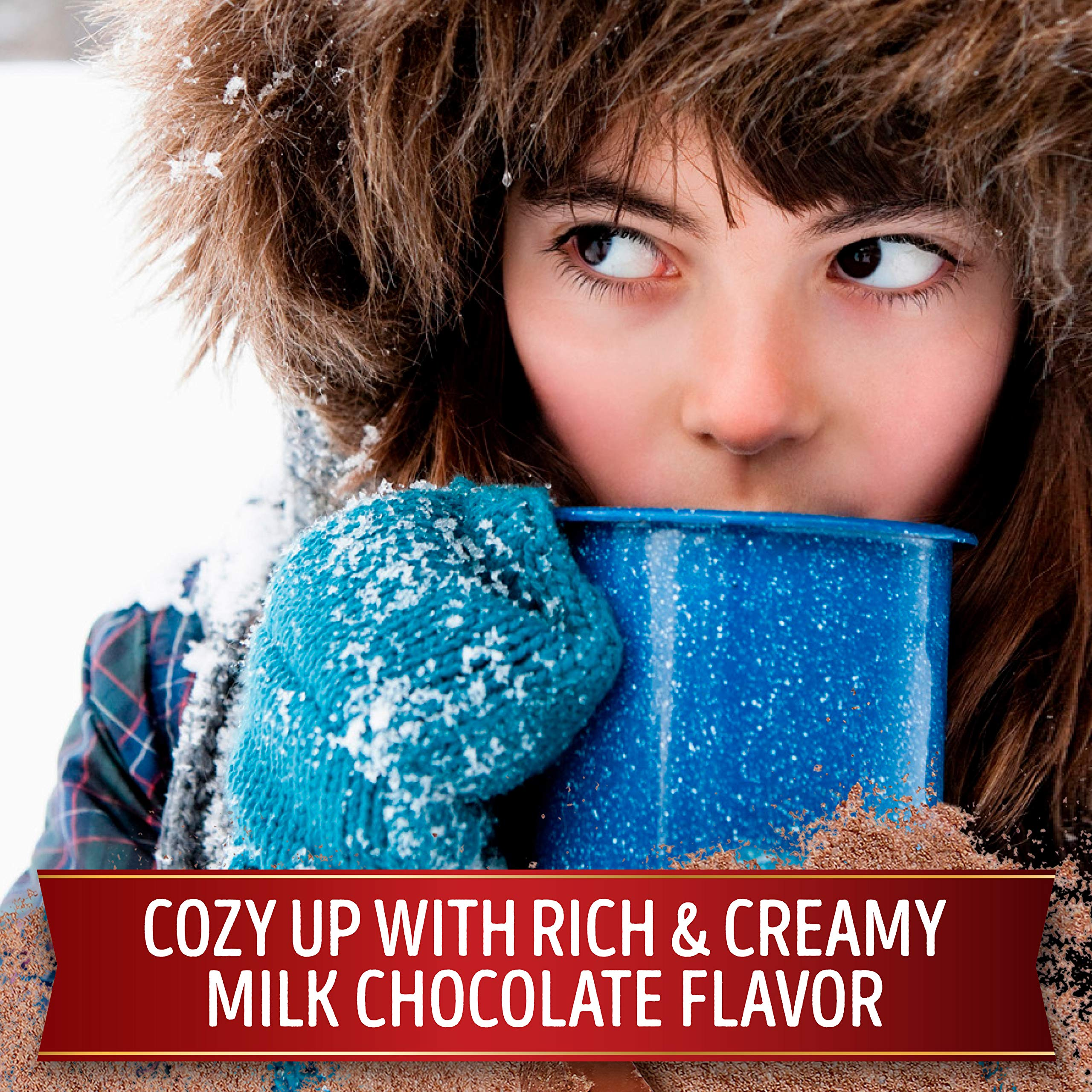 Swiss Miss Milk Chocolate Flavor Hot Cocoa Mix Canister, 22.23 oz. (Pack of 12) by Swiss Miss (Image #3)