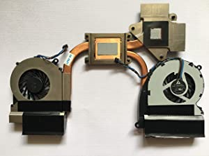 SYW·pcparts Replacement Fan for HP Envy 17-3000 17-3200 Envy 17T-3000 CTO Series CPU Cooling Heatsink Fan 6043B0117101 SPS 689993-001