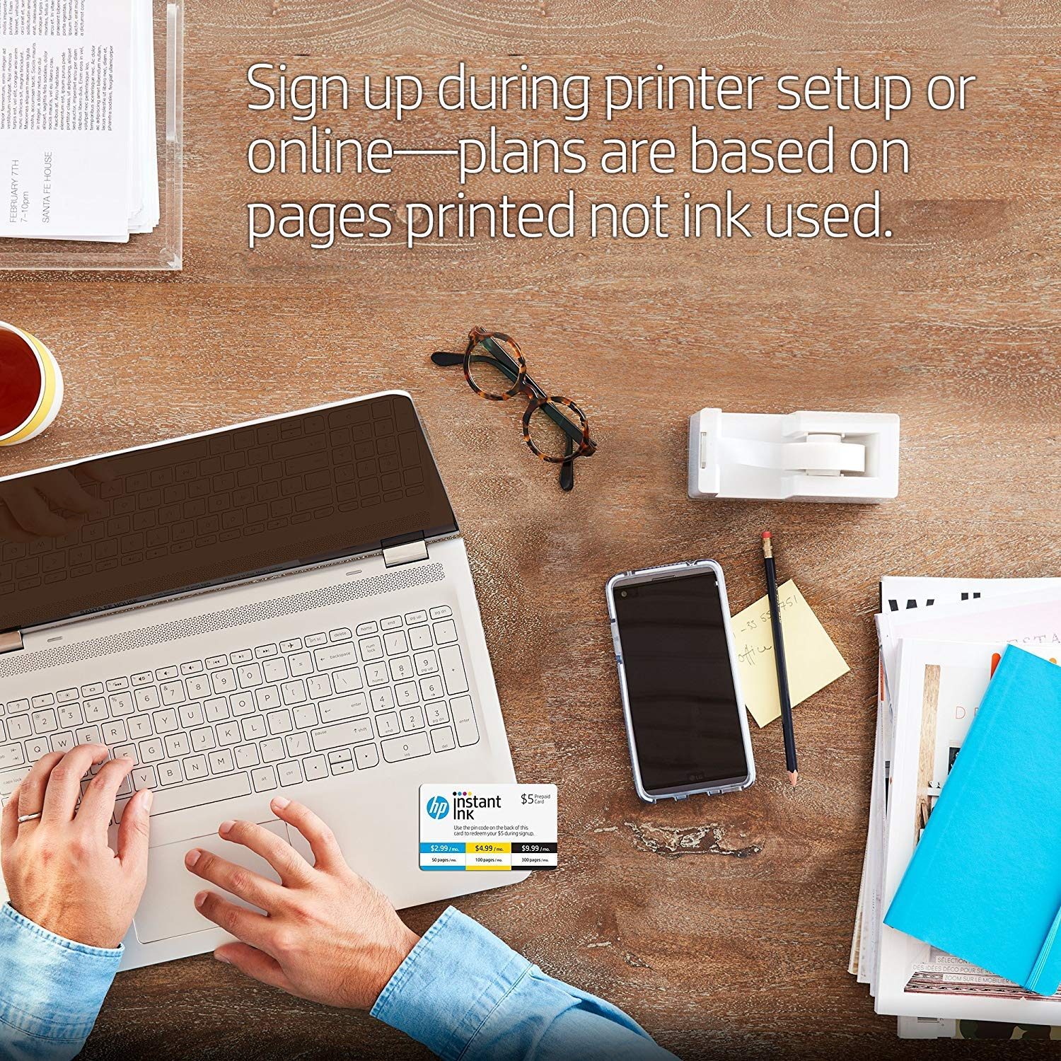 HP OfficeJet 3830 All-in-One Wireless Printer with Mobile Printing (K7V40A) and Instant Ink Prepaid Card for 50 100 300 Page per Month Plans (3HZ65AN) by HP (Image #4)