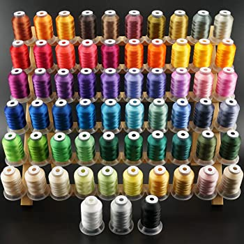 New brothread 63 Brother Colors Polyester Embroidery Machine Thread Kit 500M (550Y)