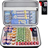 Battery Organizer Storage Box with Battery Tester (BT168), Case Bag Holder fits for 140 Batteries AA AAA AAAA 9V C D…