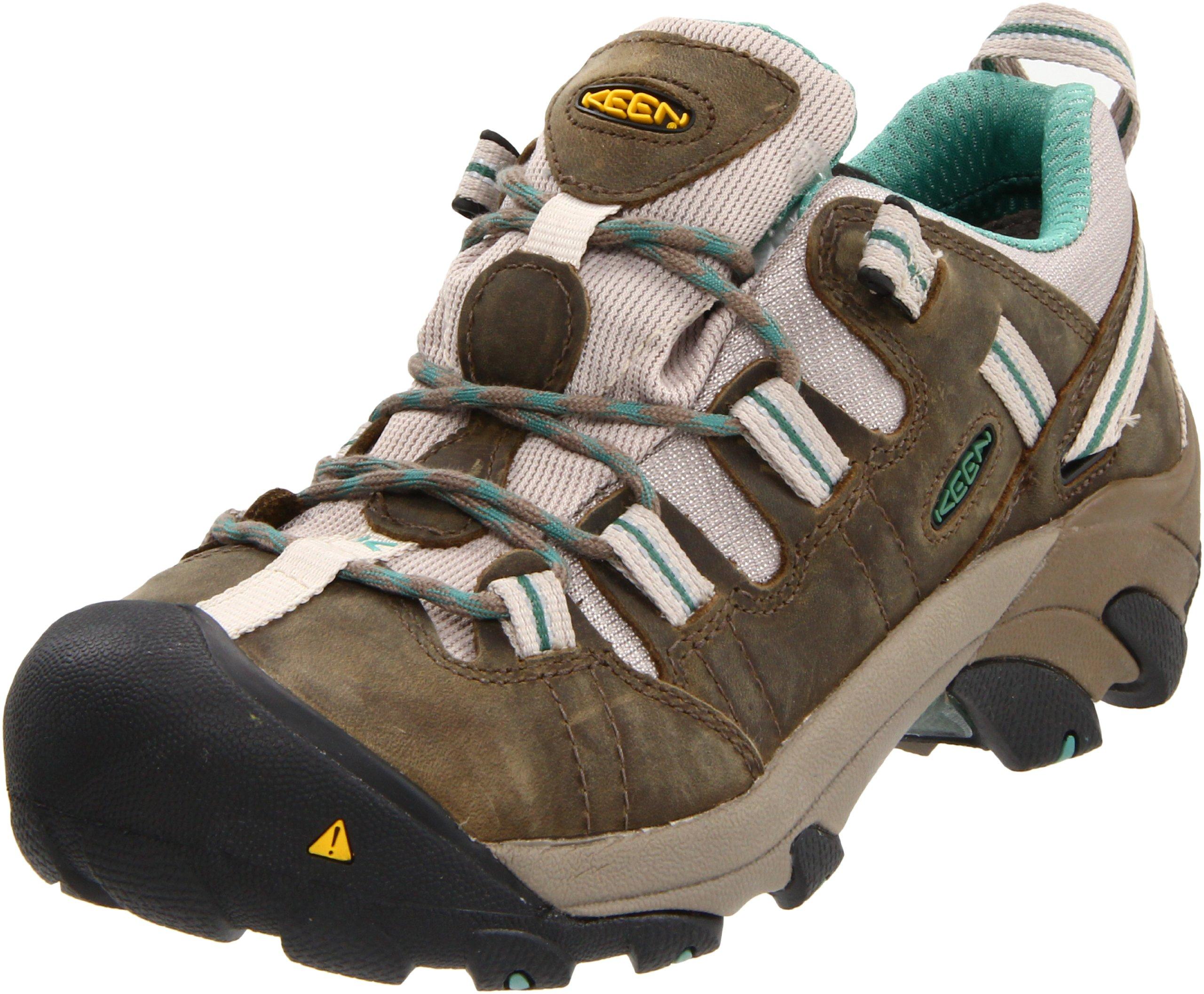 KEEN Utility Women's Detroit Low Steel Toe Work Shoe,Brindle/Deep Sea,5 W US