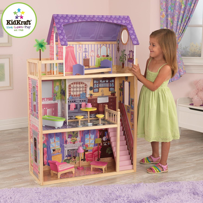 Kids craft doll house - Amazon Com Kidkraft Kayla Dollhouse 10 Pieces Of Furniture Toys Games