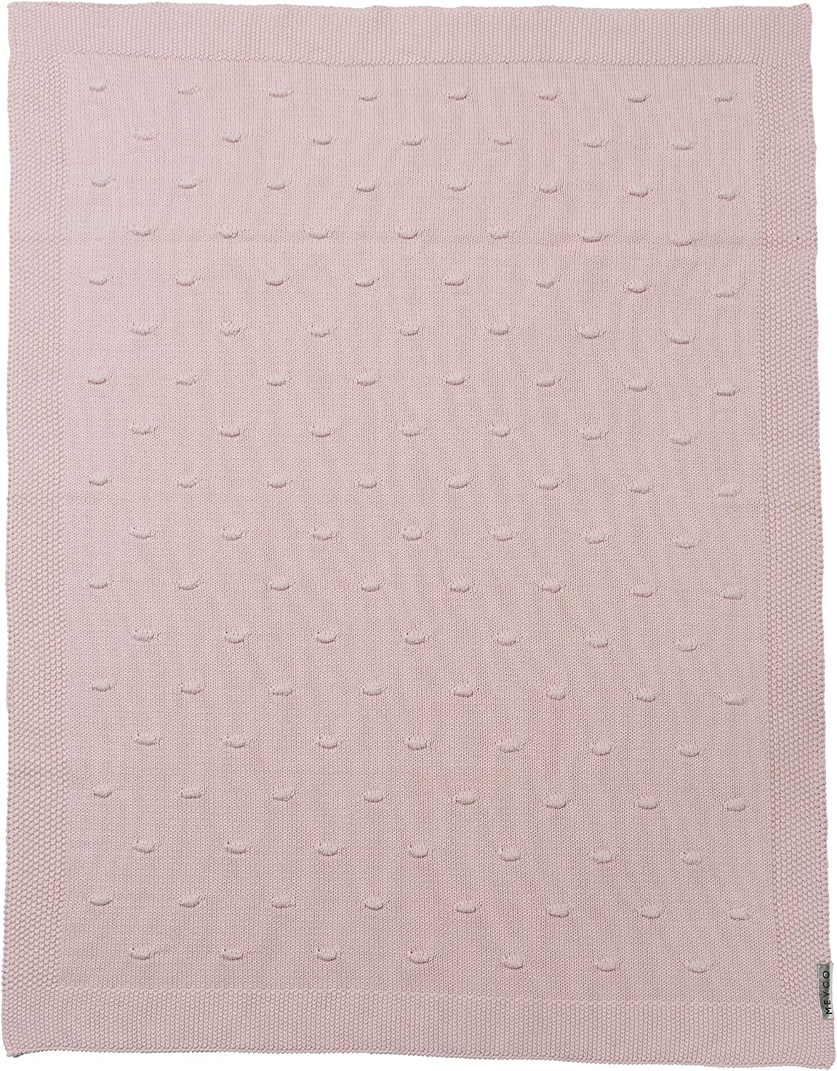 Meyco 2733052 Knitted Blanket with Knot 75 x 100 cm Pink