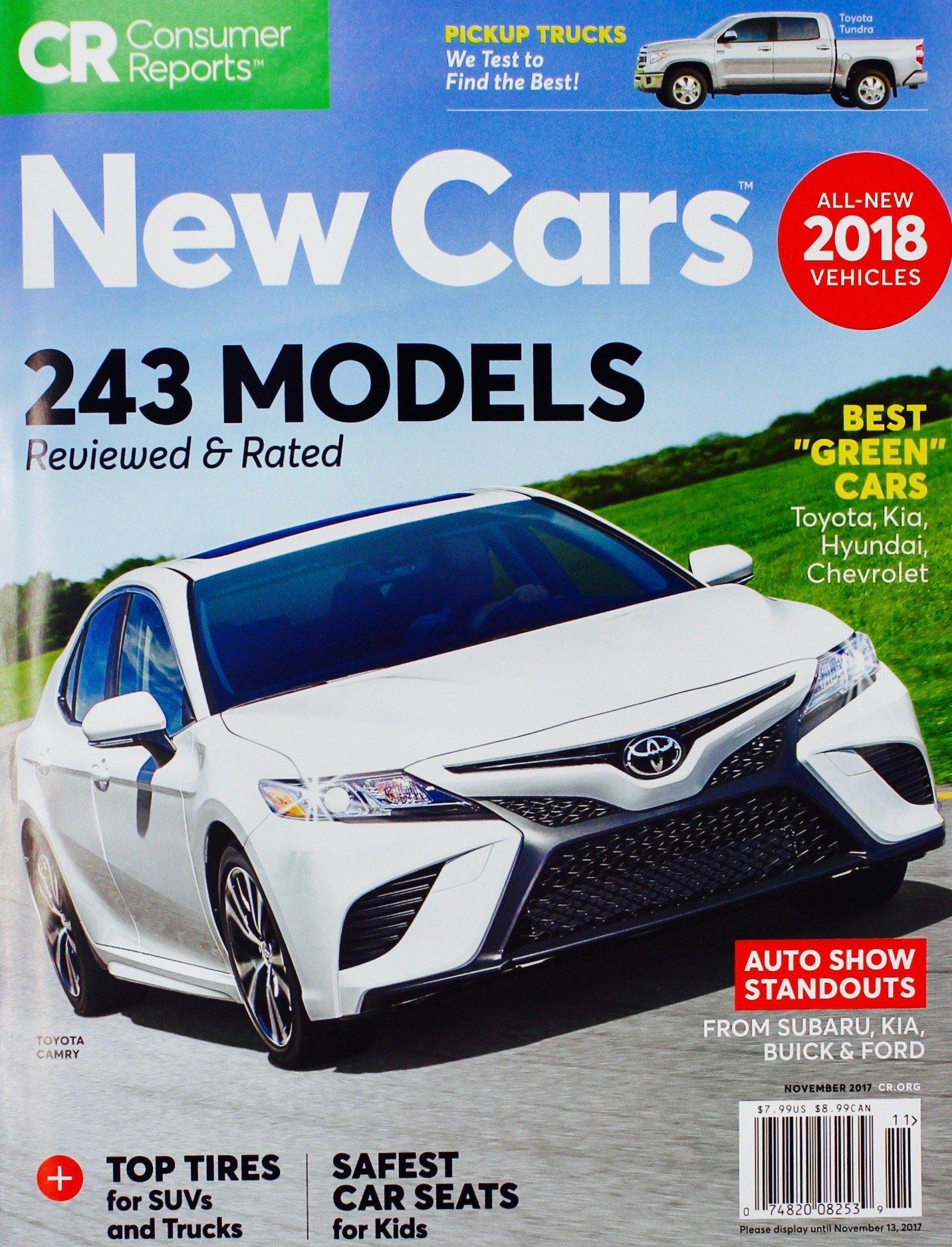Consumer reports buying guide new cars trucks suvs november 2017 243 models consumer reports 0074820082539 amazon com books