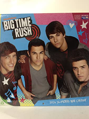 2014 big time rush wall calendar